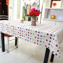 Load image into Gallery viewer, Star Printed Decorative Cotton Linen Tablecloth - Celebration Party Wedding Home Minimalist Tablecloth Large choice of size to suit your Home Decor
