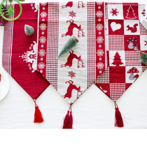 Christmas Linen Table Runner | Home Decor | 3 Designs
