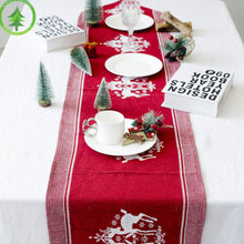 Load image into Gallery viewer, Christmas Linen Table Runner | Home Decor | 3 Designs