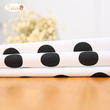 Load image into Gallery viewer, Black and White Polka Dot Cotton Tablecloth