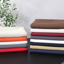 Load image into Gallery viewer, Cotton and Linen Tablecloth | Various colors and sizes for beautiful home decor. Solid Colors of Orange, Burgundy, Red, Navy Blue, Black, Beige, White