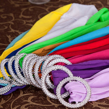 Load image into Gallery viewer, Chair Cover Sash Bands With Buckle 50 pieces - For Wedding Party Birthday Banquet Chair Decoration - Lycra Spandex