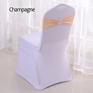 Chair Cover Sash Bands With Buckle 50 pieces - For Wedding Party Birthday Banquet Chair Decoration - Lycra Spandex