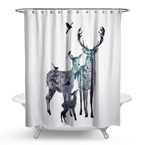 Bohemian Deer Shower Curtain | Waterproof | 6 Designs Available