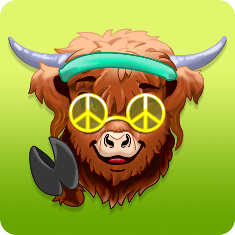 highland cow emojis icon