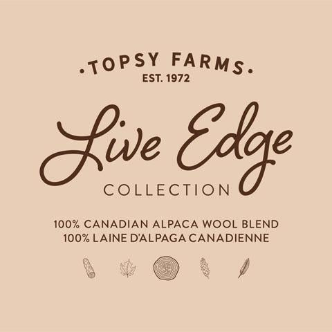 Topsy Farms' Live Edge collection wool/alpaca throw