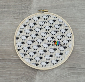 Be Ewe cross stitch