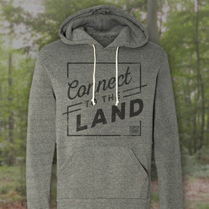 Premium eco fleece Connect to the Land hoodie