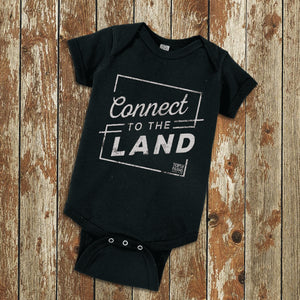 Connect to the Land onesie