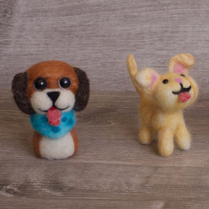 Felted dogs