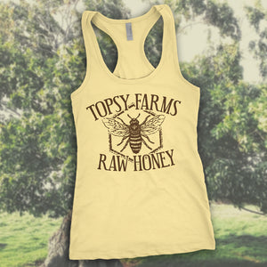 Women's Topsy Farms Raw Honey racerback tank