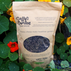 Topsy Farms Sally's Garden raw wool organic fertilizer