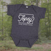 Topsy Pure Sheep Wool onesie in blue grey heather