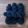Blue Navy skeins of yarn.