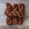 Carrot Cake skeins of yarn.