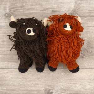 Wool highland cows