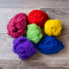 Dyed roving, available in many different colours.