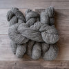 Dark Grey skeins of yarn.