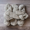 Grey Light skeins of yarn.