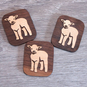 Lamb fridge magnet