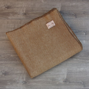 Live Edge Natural Caramel Alpaca Wool Throw