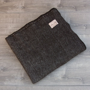 Live Edge Natural Espresso Alpaca Wool Throw