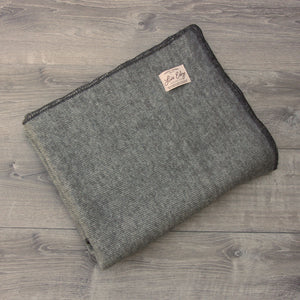 Live Edge Natural Grey Alpaca Wool Throw