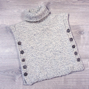 Child's wool poncho sweater