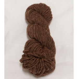 Skein of smoked cranberry yarn, sold by Topsy Farms.