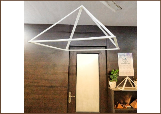 Giza 2ft Light Weight Hanging Pyramid for Regular Meditation (PVC)