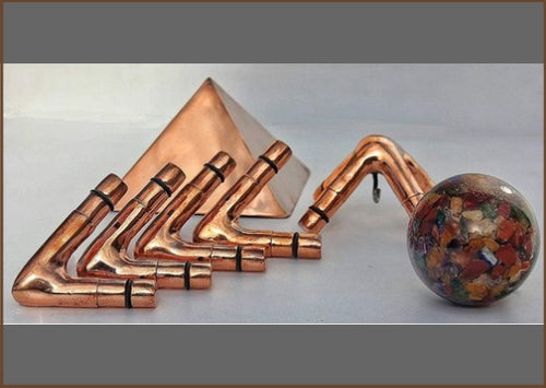 Handmade Copper Giza Meditation Pyramid - L Type 3/8 Inch (Connectors Only)