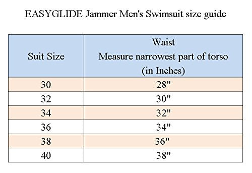 3asyglide Easyglide Jammer Mens Swimwear Comfortable Polyester Fabric For Competition Exercise Training