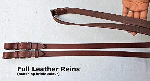 Crossunder Bitless Bridle Headstall with Reins English Leather Crossover