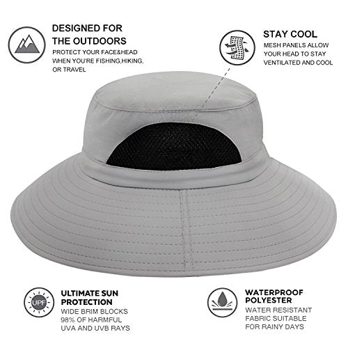 4a7eaf12a Einskey Sun Hat For Men/Women, Summer Outdoor Sun Protection Wide Brim  Bucket Hat Waterproof Breathable Packable Boonie Hat For Safari Fishing  Hiking ...