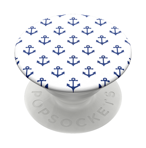 NYHET 🔄 PopSockets PopGrip - Anchors Away White SWAPTOP