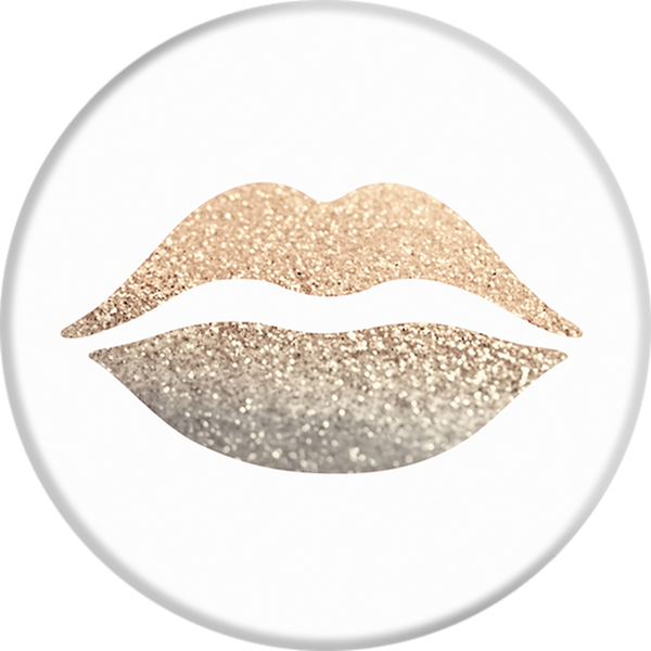 PopSockets Gold Lips