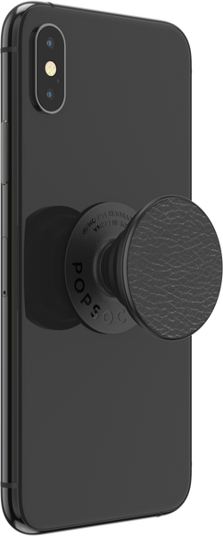 NYHET 🔄 PopSockets - Pebbled Vegan Leather Black POPGRIP