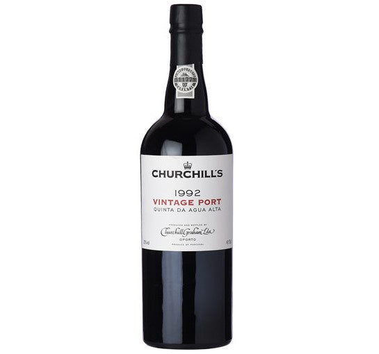 1992 Churchill's Vintage Port, Single Quinta Agua Alta - Fortified Wine - www.baythornewines.co.uk
