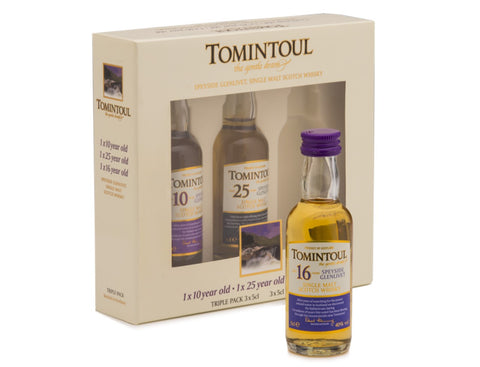 Tomintoul Whisky Minatures Gift Pack