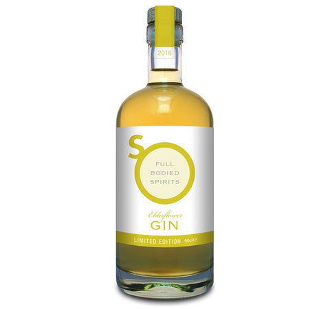 Elderflower Gin Liqueur, So Drinks - 50cl bottle