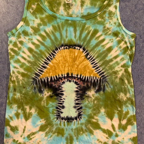MEADOW MUSHROOM - TIE DYE SHIRT - WOMEN'S TANK SMALL