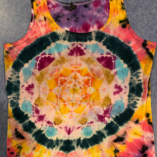 Flower of Life - Tie Dye Tank - Large Adult
