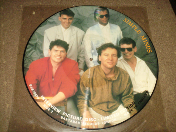 Simple Minds - Interview Picture Disc