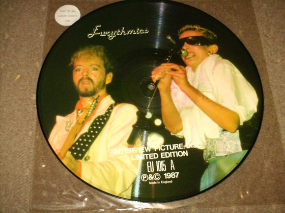 Eurythmics - Interview Picture Disc