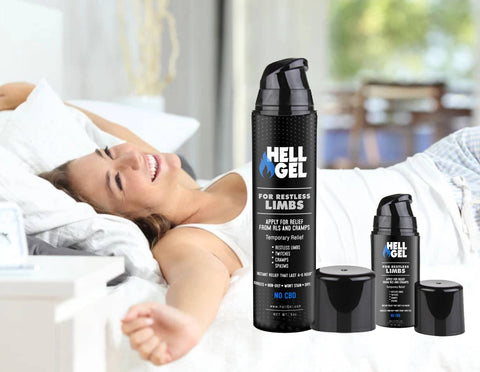 "Image of 1 Large Bottle (5oz) Hell Gel - ""Restless Limb and Cramp Relief in 2 Minutes or Less, Guaranteed!"""