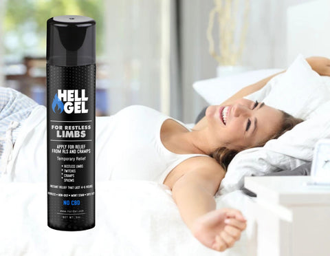 "Image of 2 Large Bottles (5oz) Hell Gel - ""Restless Limb and Cramp Relief in 2 Minutes or Less, Guaranteed!"""