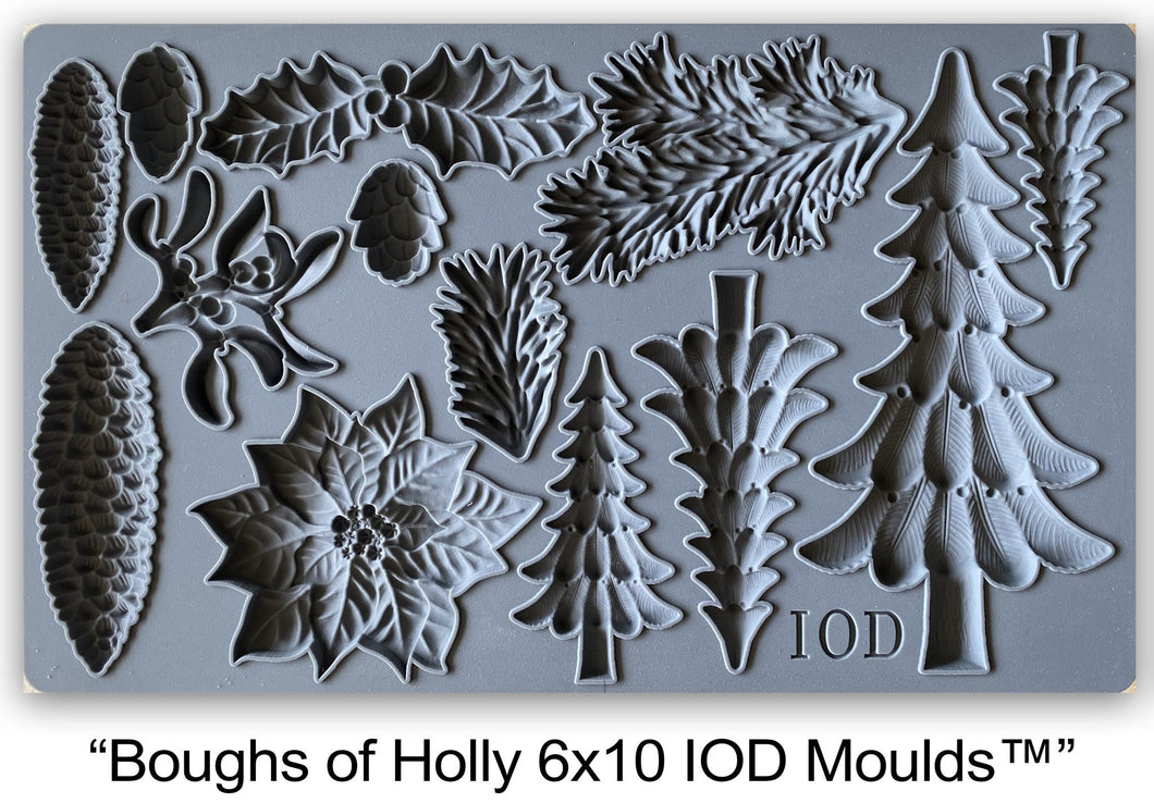 NEW HOLIDAY! Boughs Of Holly | IOD Mould
