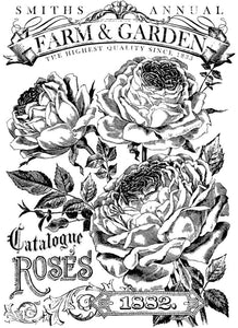 Catalogue Of Roses | IOD Paintable DECOR TRANSFER™