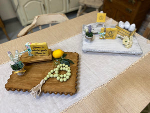 LADIES NIGHT!  Mother's Day/Springtime Single Tier Tray with Mini Decor Sampler Set Class