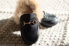 Load image into Gallery viewer, Fur Leather Mules